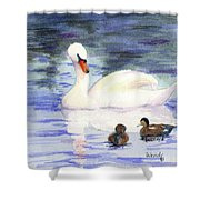 Winter Friends Shower Curtain