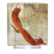Winter Game Fox Shower Curtain