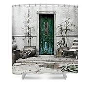 Winter Garden Shower Curtain