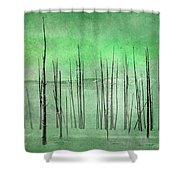 Winter Green  7913green Shower Curtain