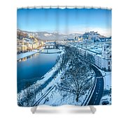 Winter Greetings From Salzburg Shower Curtain