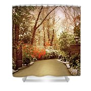 Winter Greets Autumn Shower Curtain