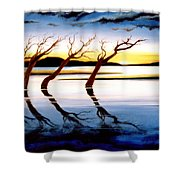 Winter Heatwave Shower Curtain