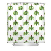 Winter Holiday Trees 2- Art By Linda Woods Shower Curtain