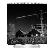 Winter Homes The Crane And The Great Plough Shower Curtain