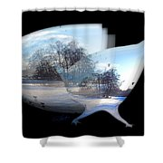 Winter Ice Shower Curtain
