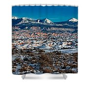 Winter In Arches National Park Shower Curtain