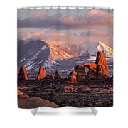 Winter In Arches Np Shower Curtain by Wesley Aston