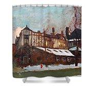 Winter In Buffalo Shower Curtain