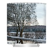 Winter In England, Uk Shower Curtain