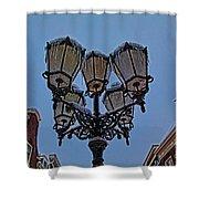 Winter In Gouda-1 Shower Curtain