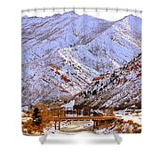 Winter In Grand Junction Shower Curtain