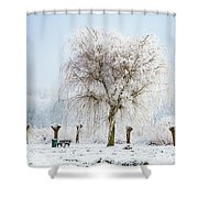 Winter In Holland Shower Curtain