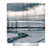 Winter In Iceland Shower Curtain