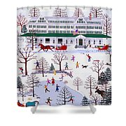 Winter In Jackson New Hampshire Shower Curtain
