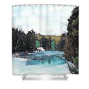 Winter In Kalkaska Shower Curtain