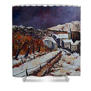 Winter In Luxembourg Shower Curtain