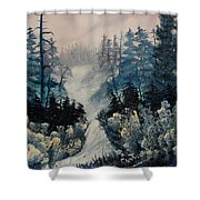 Winter In New Jersey Shower Curtain