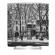 Winter In Paris Shower Curtain