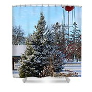 Winter In Pequot Lakes Shower Curtain