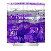 Winter In Purple And Silver Shower Curtain