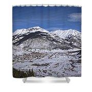 Winter In Silverton Colorado Shower Curtain