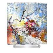 Winter In Spain Shower Curtain
