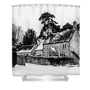 Winter In The Cotswolds Shower Curtain