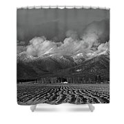 Winter In The Flathead Shower Curtain
