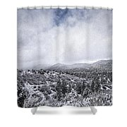 Winter In The Valley Shower Curtain