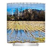 Winter In Washington Fields Shower Curtain