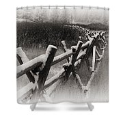 Winter In Wyoming 4 Shower Curtain