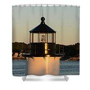 Winter Island Lighthouse At Sunset, Salem, Massachusetts Shower Curtain
