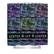 Winter Joy Shower Curtain