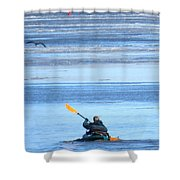 Winter Kayak Shower Curtain