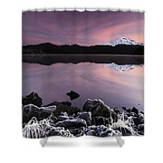 Winter Lake Frost Shower Curtain