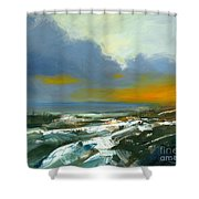 Winter Lake View Shower Curtain