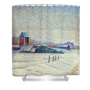 Winter Landscape 1885 Shower Curtain