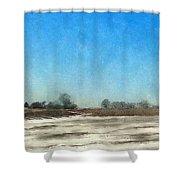 Winter Landscape 3 Shower Curtain