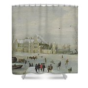 Winter Landscape Shower Curtain by Barent Avercamp