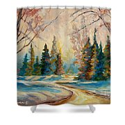 Winter Landscape Knowlton Quebec Shower Curtain