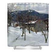 Winter Landscape Near Kutterling Shower Curtain