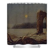 Winter Landscape With Ruined Arch Shower Curtain