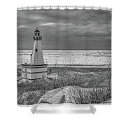 Winter Lighthouse Shower Curtain