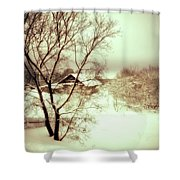Winter Loneliness Shower Curtain by Jenny Rainbow