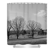 Winter Looking At The Dell Shower Curtain
