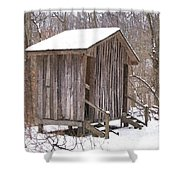 Winter Lookout In Oil Shower Curtain