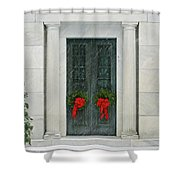 Winter Mausoleum Shower Curtain