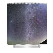 Winter Milky Way From New Mexico Shower Curtain