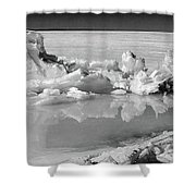 Winter Mini Landscape On A Lake Shower Curtain